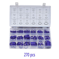 70 Nitrile Rubber O Ring 270Pcs Viola Set assortimento metrico Kit Oring automatico Washer Assortment Kit guarnizione Seal automobilistico # 273998