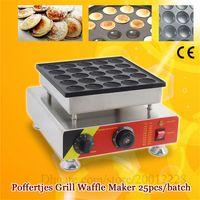 Électrique Noir National Biscuits Hollandais Machine Poffertjes Poffertjes Grill Maker Gaufle Gaufre 25 Holes CE NOUVEAU
