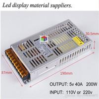 CE-Zertifizierung ultra-dünne LED-Anzeige Leistung YY-D-200-5 schaltbare Eingangsspannung 220V / 110V stabiler Betrieb Stromversorgung