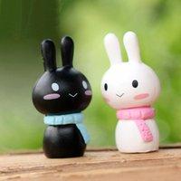 XBJ058 nuovo mini coniglio 2pcs miniatura animali Fata decorazione del giardino di Casa di bambola terrari Ornament Decor Giocattoli