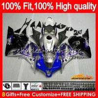 Injection bleu argenté OEM pour HONDA CBR 600RR 600F5 600CC F5 09 10 11 12 74HC.130 CBR 600 RR CBR600 RR CBR600RR 2009 2010 2011 2012 Carénage
