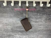 2020 NUEVO 4 Color Key Bolsa Damier Cuero Holds Moda de alta calidad Mano Clásica Hombre Hombre Tenedor de llaves Monedero Monedero Pequeño Cuero Key Wallets
