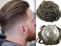 Горячие продажи Браун # 4 Цвет Topee для мужчин Силиконовые кружевные волосы Бразильские Девы Человеческие Волос Замена Волос