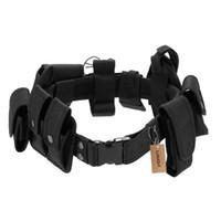 Lixada التكتيكي الأمن الحرس معدات واجب كيت حزام مع الحقائب نظام الحافظة في الهواء الطلق التدريب الأسود