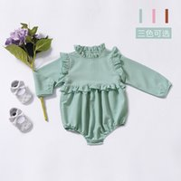 2019 Ins Baby girl clothes Rompers Ruffles Long sleeve Sweet...