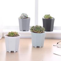 """En gros colorés en plastique petits Succulent Pot, graines grandis de coupe robuste Fleur Nursery Starter Pot Planteur 3"""""""