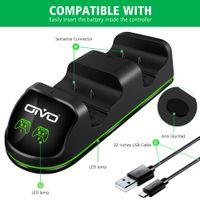 CRIOC double contrôleur chargeur pour Xbox One / One S / One X Station de recharge écran d'affichage d'état Dock 2 batterie rechargeable