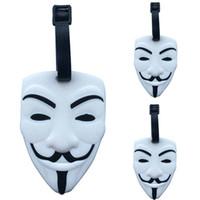V-Vendetta Mask الأمتعة الوسم حقيبة معرف عنوان حامل الأمتعة معرف اسم العلامة المحمولة تسمية السفر الملحقات HHA747