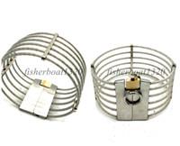 高品質のメタルネックカラーユニセックスワイヤースレーブネックカラーロック可能ファッション562A