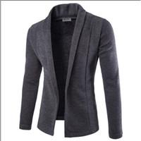 Homens Inverno Meihuida Outono Casual French Rib Nenhum botão de abertura de cama Collar Slim Fit Sólidos Quente Brasão Trabalho Negócios Jacket Outwear