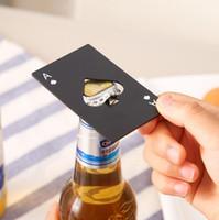 بطاقة لعبة البوكر فتاحة الفولاذ المقاوم للصدأ البيرة الفتاحات شريط أدوات بطاقة الائتمان الصودا زجاجة بيرة فتاحة كاب هدايا مطبخ أدوات LX1413