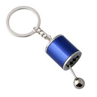 Gear Knob Keychains Car Keyring Gear Shift Stick Box Metallo Catena chiave Keyfob Car Auto Ornamento Fashion Party Favore GGA3089-4