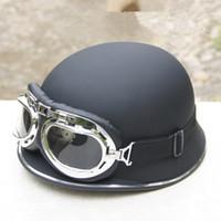 Лето прохладный мотоцикл шлем летняя половина лица электрический велосипед мотоцикл шлемы с очками из ABS EAEA428