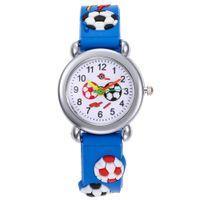 2020 nuevos niños de la moda de los relojes de silicona lindo de fútbol para niños relojes de cuarzo de las muchachas de los relojes Casual Horas reloj del reloj del reloj