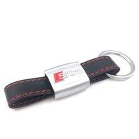 Autocollant automobile Noir Ligne Rouge Sport Sport Sline pour Audi 3 A4 A5 A6 A8 TT Rs Keyfob Keyfob K5801