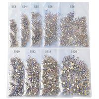 1440pcs / pack SS3-SS20 stellato Strass per unghie Nails 3d Flatback di vetro Strass non Hotfix di cristallo di fascino di arte della decorazione di scintillio