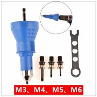 Elektrische Nietmutter Gun Nietwerkzeug Nieten Bohrer Adapter Einsetzmutter Werkzeug riveter Adapter M06 T03021