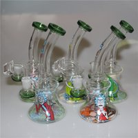Glass Beaker Bong Heady Bongs mini Dab Rig Water pipe Thick ...