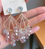 2 pares / lots earings nobres de alta qualidade borlas cristal baixo preço diamante luxo high-end atmosférica zircão palácio banquete da senhora 35.99