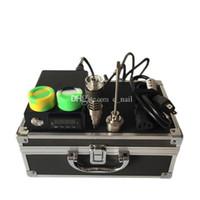 scatola di alluminio rigida imballaggio Kit chiodo elettronico con GR2 Titanio / quarzo chiodo Hybrid forma piatta 10mm / 16 millimetri / 20mm riscaldatore bobine DHL