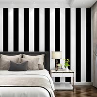 Branco e preto de vinil Stripes Wallpaper para o fundo Crianças Baby Photography 5X7ft Pano de fundo para Photo Studio Prop