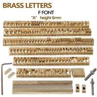 Logo 184Pcs personalizada latón alfabeto regalo Prensa Carta Sello Craving Herramienta de Branding Iron Personalidad madera de cuero estampado en caliente
