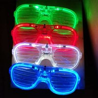 Lumière LED Lunettes clignotant Volets Forme Lunettes Flash LED Lunettes de soleil Danses de fêtes de Noël Fête Décoration cadeau XD21981