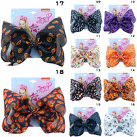 18 couleurs JOJO filles Barrettes Halloween arc citrouille crâne Barrettes Hairbow Épingle cheveux tête Accessoires