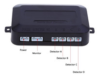 4 Sensores de estacionamiento Automóvil Automático Reversa Asistencia trasera Sistema de monitoreo Radar zumbador Parque de alarma Sistema de monitoreo Inglés Notificación de voz Radares rápido