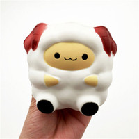 Kawaii 9 cm Ovejas Squeeze blando aliviar el estrés lenta Rising Jumbo niños juguete de regalo ovejas blando juguete 2B11