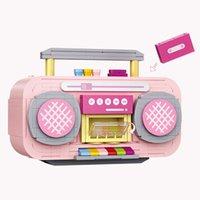 LOZ Netter rosa Recorder Building Blocks Modell, Mini DIY bauen zusammen pädagogisches Spielzeug, Ornament für Weihnachten Kid Geburtstags-Mädchen-Geschenk, Collect 1120, 3-1