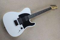 أعلى بيع JIM ROOT الفنان التوقيعات الأبيض تيلي الغيتار الكهربائي EMG بيك اب القيقب الرقبة، روزوود الأصابع، مزدوجة قفل جسر اهتزاز