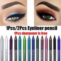 14 Цветов Длительное карандаш для карандашей для глаз водонепроницаемый мерцание матовый матовый тень для глаз лайнер макияж для век для век для век для век для век Косметические инструменты