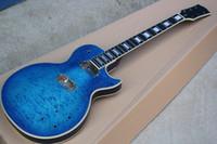 مصنع مخصص الأزرق الغيتار الكهربائي كيت (أجزاء) مع الغيوم القيقب القيقب ، diy نصف النهائي الغيتار ، تقدم مخصصة