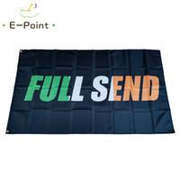 Fundo preto Irlanda Full Enviar Bandeira 3 * 5ft (90cm * 150cm) Bandeira de poliéster Banner Decoração Flying Home Jardim Bandeira Festivo Presentes