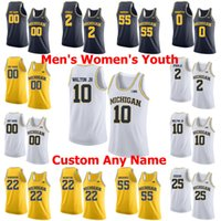 NCAA Michigan Wolverines Koleji Basketbol Formaları 10 Tim Harableway Jr. Jersey 41 Glen Pirinç 3 Zavier Simpson 24 Jimmy King Özel Dikişli