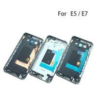 Samsung Galaxy Büyük DUOS E5 E500 E7 E700 Orta Çerçeve Plakalı Pil Arka Kapak İçin e5 / e7 Tam Konut Değiştirme