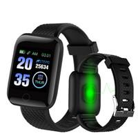 D13 Smart Watch Armband Sport Fitness-Blutdruck-Puls Rufnachricht Reminder Pedometer 116 Plus-Smartwatch Freies Verschiffen für DHL
