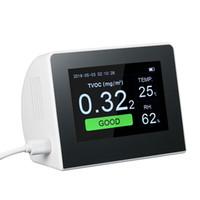 K6-B K6-D Analisador Digital de Gás Multifuncional, testador da qualidade do ar Medidor de CO2 para ambiente interno / externo HCHO TVOC Detector Monitor