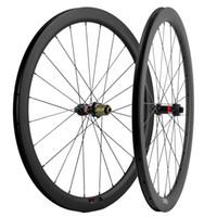 700C Disk Fren Karbon Tekerlekli çiftler gariplik 45mm Derinlik 25mm Genişlik Karbon Tekerlekler Yol Bisikleti UD Mat Novatec Hub Merkezi Kilit