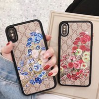 Embroidered flower brand phone case for iphone Xs max Xr X 7...