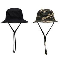 Winddichtes Rope Bucket Hat Damen Damen Herren Sun Wide Brim Designer Fischerhut Fisherman Cap Panama Hip Hop Harajuku Jagd Outdoor-Sommer