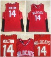 Top Qualität ! 14 Troy Bolton Jersey Wildcats High School College Basketball Rote 100% gestichte Größe S-XXXL
