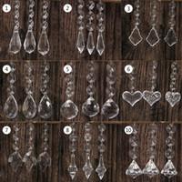 10 stücke Acryl Kristall Perlen Tropfenform Girlande Kronleuchter Hängende Party Decor Hochzeit Dekoration Mittelstücke Für Tische