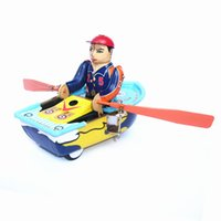 Adult Collection Retro Wind up toy Metal Tin The Boating rob...