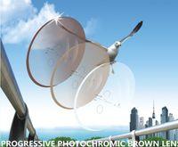 وصفة طبية اللونية براون / رمادي عدسة التدريجي 1.56 التركيز المعطي HMC + EMI 12mm14mm ممر النظارات الطبية النظارات الشمسية الضوئية