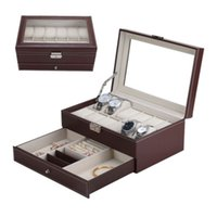 12 Grids Slots Watch Box Professional Storage Watches Box Do...