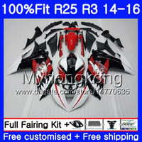 حقن الجسم لياماها YZF R3 R25 YZF-R3 YZFR25 14 15 16 17 240HM.0 YZF-R25 R 25 YZFR3 2014 2015 2016 2017 Fairings kit Shark red white