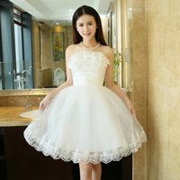 Stage Performance White Bridesmaid dress Bride Wedding Party...