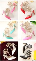 New Style High- quality Genuine Leather Women Sandals Party F...